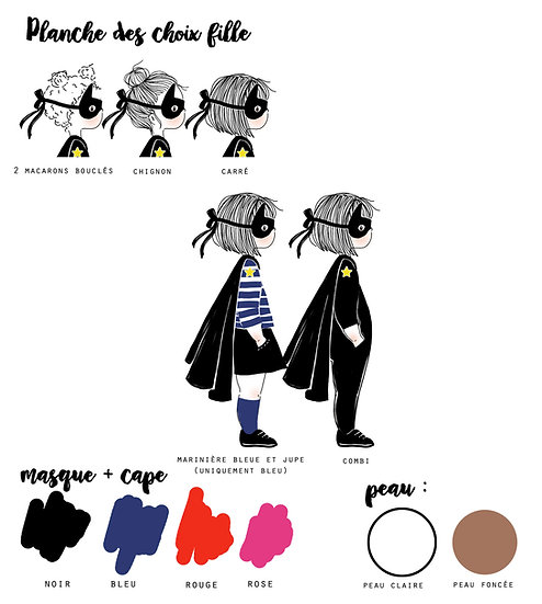 Option Affiche Profil HEROS - fille -