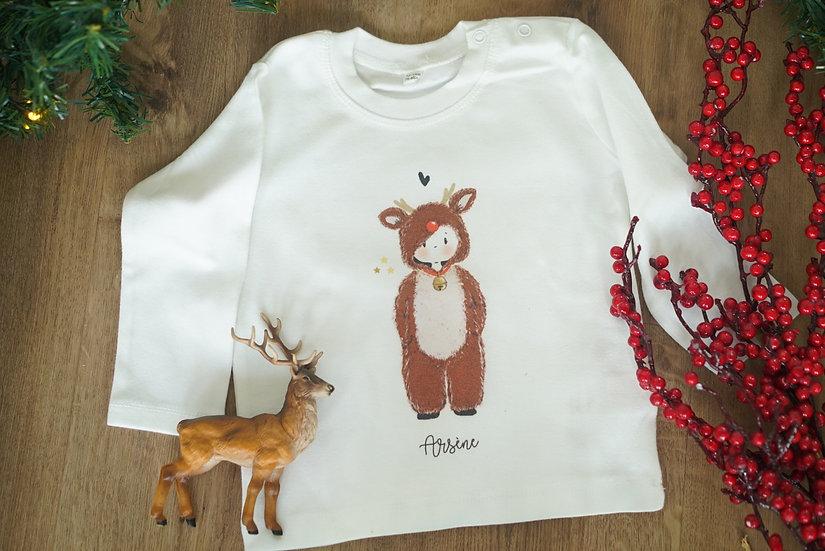 T-Shirt Bébé NOËL personnage