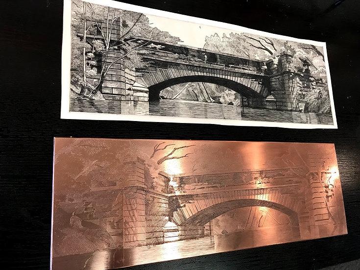 Byrd Creek Aqueduct - printing plate