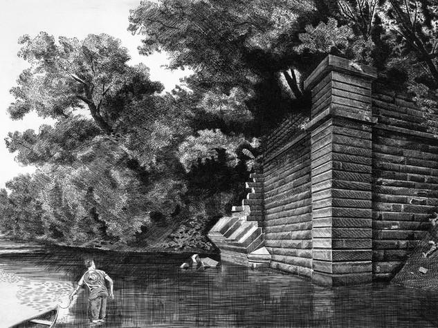 Remains of the Rivanna Aqueduct, Columbia, Virginia