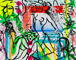 """Stefan Szczesny, """"Untitled"""", 2020. Acrilyc on canvas, 160 x 200 cm."""