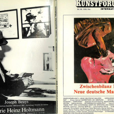 "Text von Klaus Honnef, ""Stefan Szczesny"", in ""Kunstforum International"", Dezember 1983"