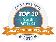 CSA Research Top 30 Language Service Providers 2019