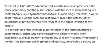 2019-Public-Intimacy, Trevisso, Italia