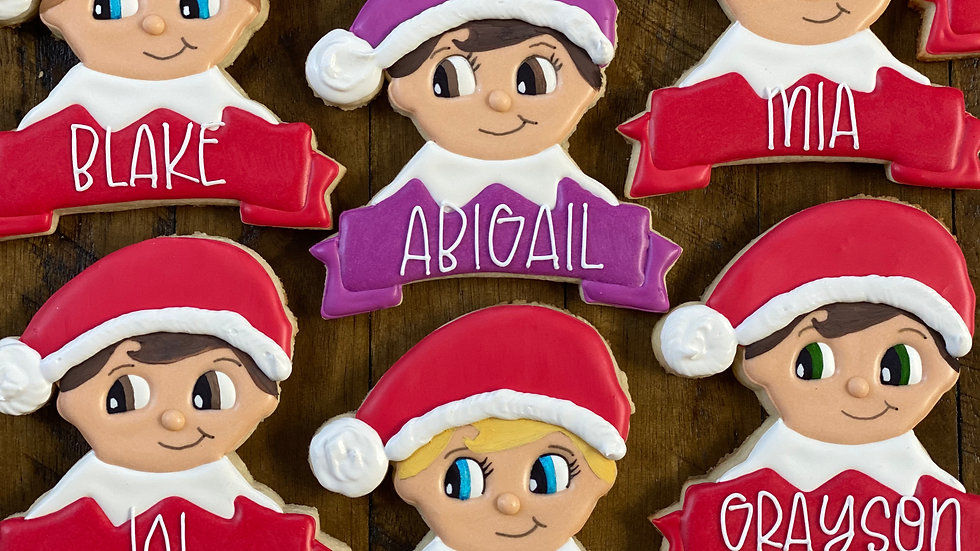 Elf on a Shelf Cookie (LARGE) 12/21 Pick-Up