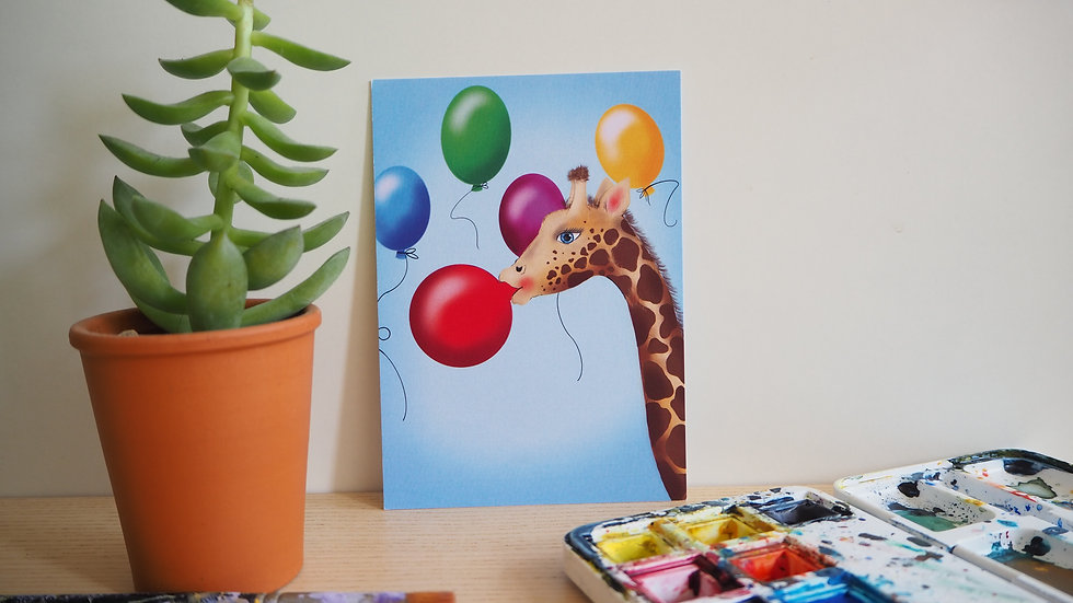 Giraffe met ballon 2019037