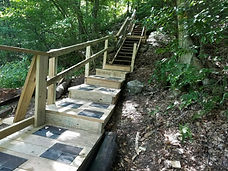 bridge & stairs connecting JB trailhead