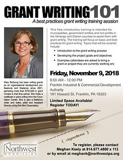Grantwriting101_flyer; 11-9-2018 in Fran