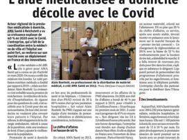"""L'ALSACE """"l'aide médicalisée à domicile décolle avec le COVID"""" 05/2021"""