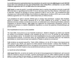 """Le Journal des Entreprises 05/2021 """" L'activité de maintien à domicile portée par la crise sanitaire"""