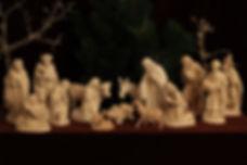 Bauernkrippe 18 cm Natur