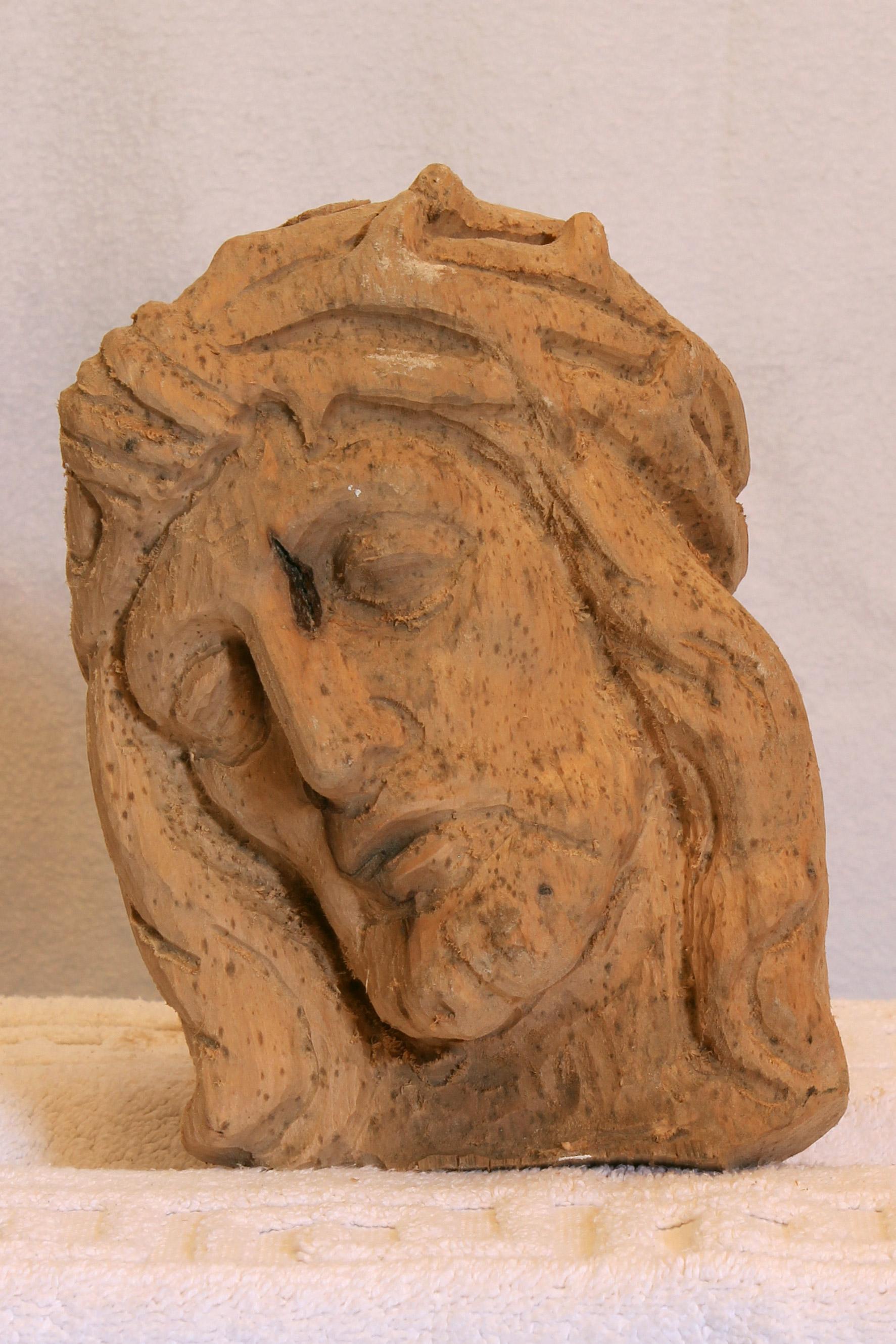 Christus Kopf Relief