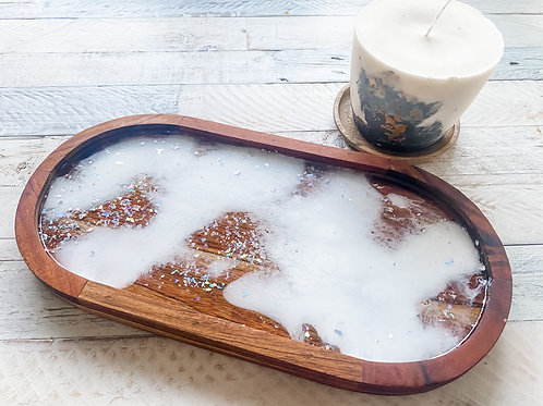 Stars and clouds display tray