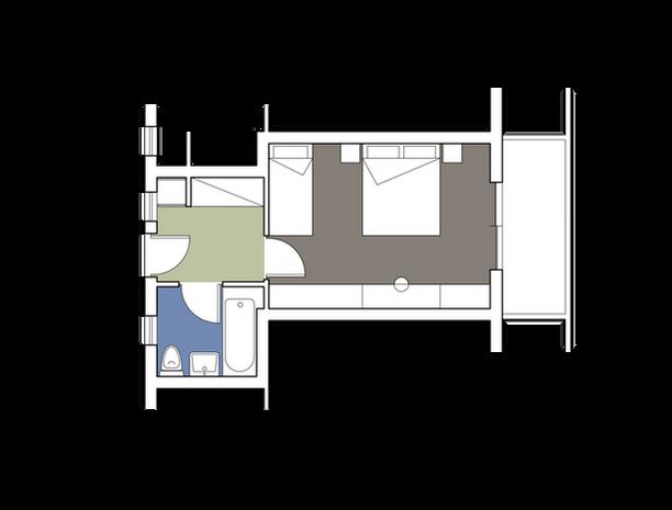 Bungalow Building Standard Double Room