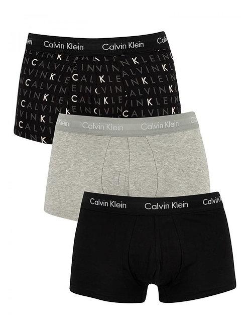 Calvin Klein Boxer Briefs 3 Pack TRUNKS COTTON STRETCH U2664G-YKS