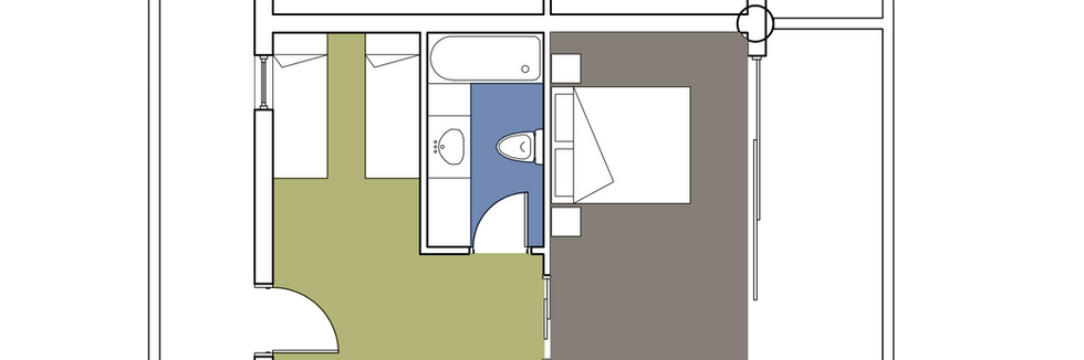 Family Room With Sliding Door