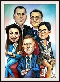 Karykatura grupowa na zamówienie