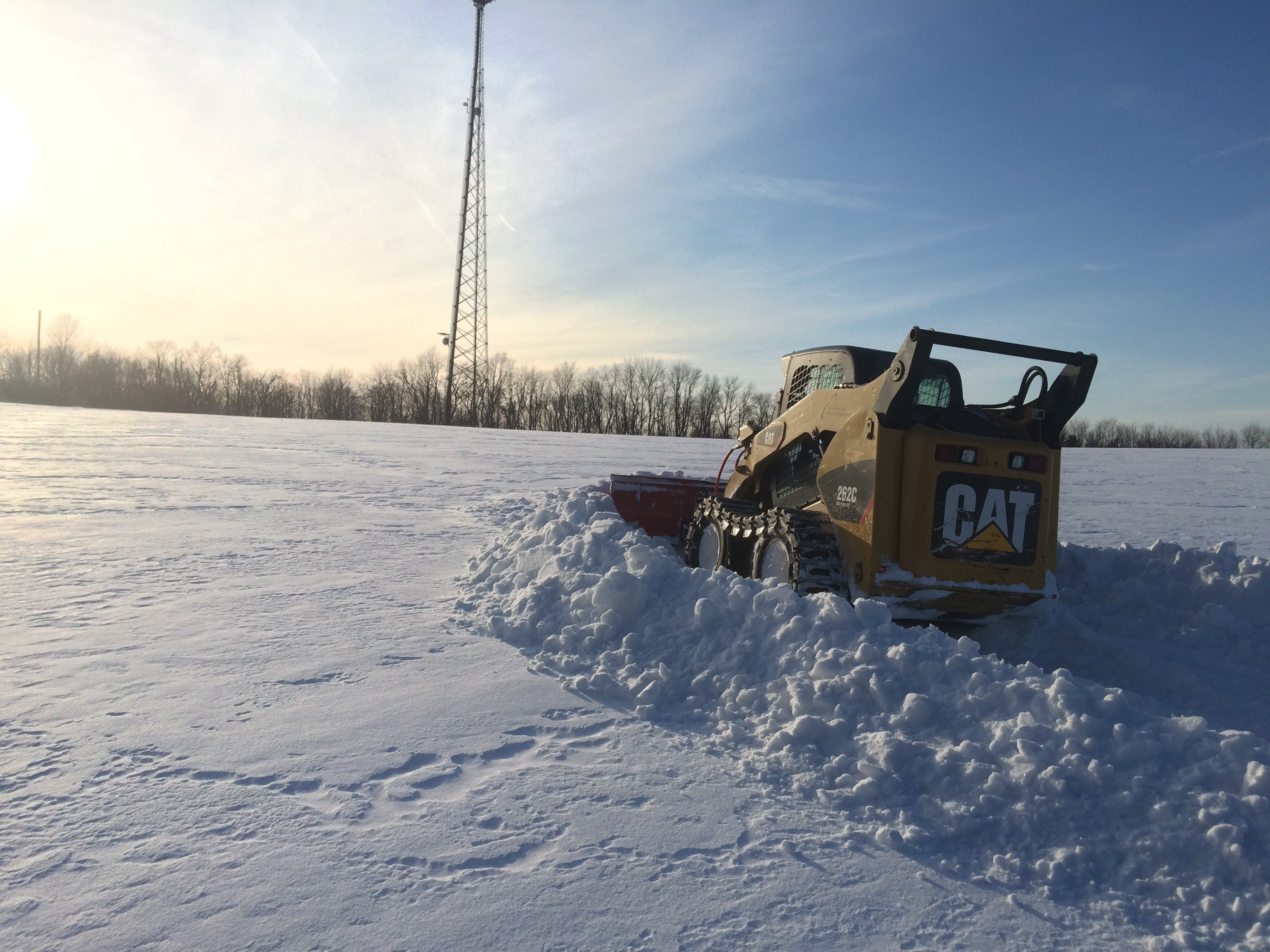 Snow removal for access roads