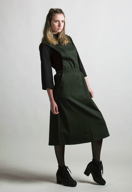 Forest green pinafore