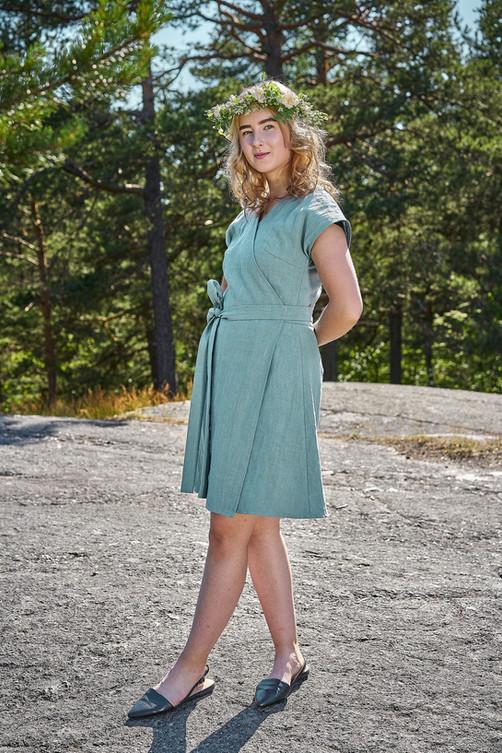 Laakso Dress - Greenish Blue