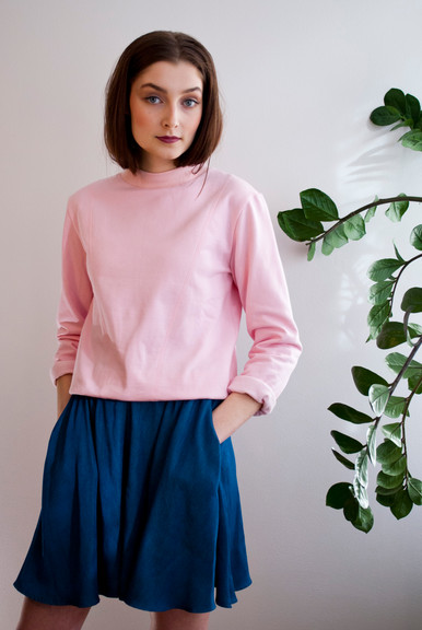 Pink college sweater