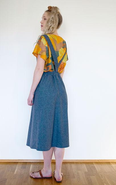 Potti t-shirt, Alppila pinafore made of hemp mix