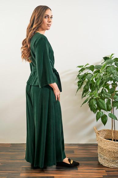 Ilta Shirt and Aamu Pants - Green