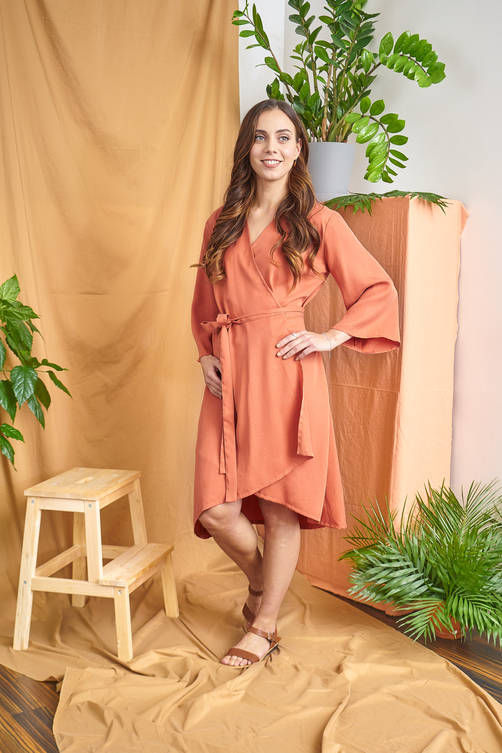 Iiris Dress - Orange
