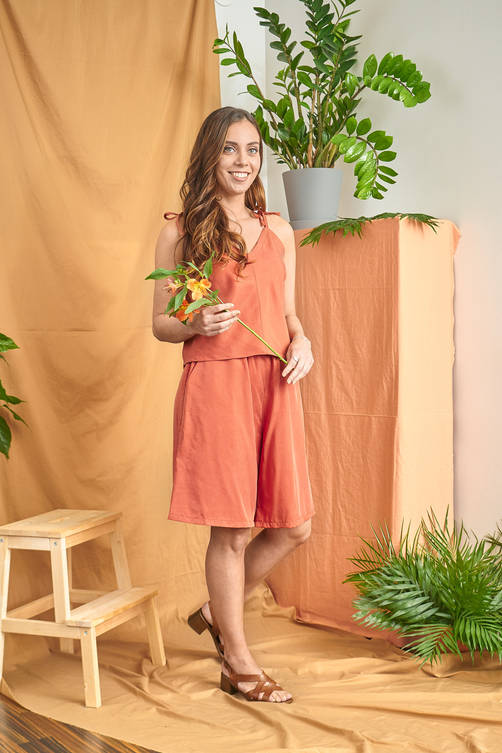 Paahde Top and Loma Shorts - Orange