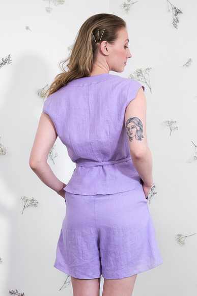 Sofia Top and Elise Shorts - Lavender