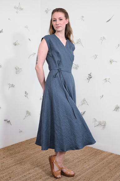 Laila Dress - Denim blue