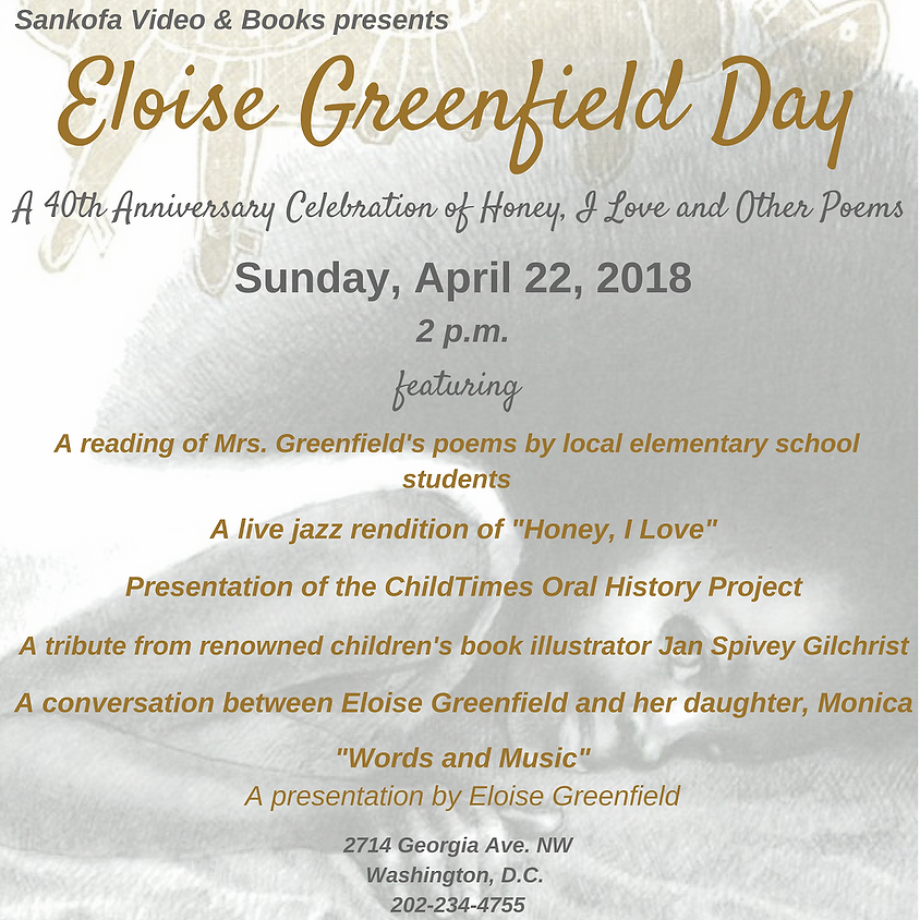 Eloise Greenfield Day