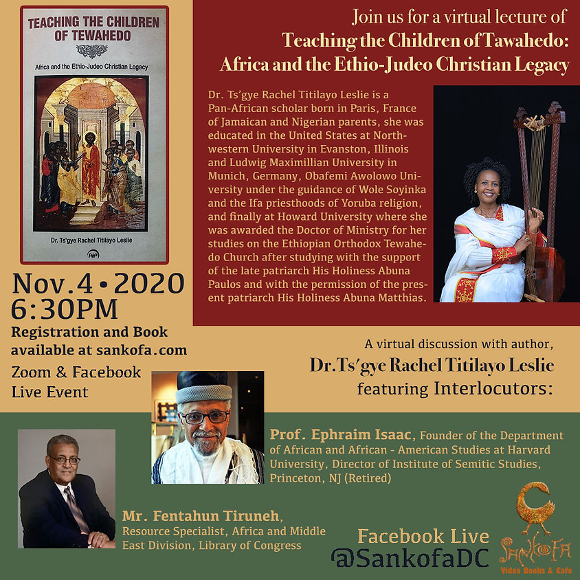 Virtual lecture of Teaching the Children of Tawahedo: Africa and the Ethio-Judeo Christian Legacy
