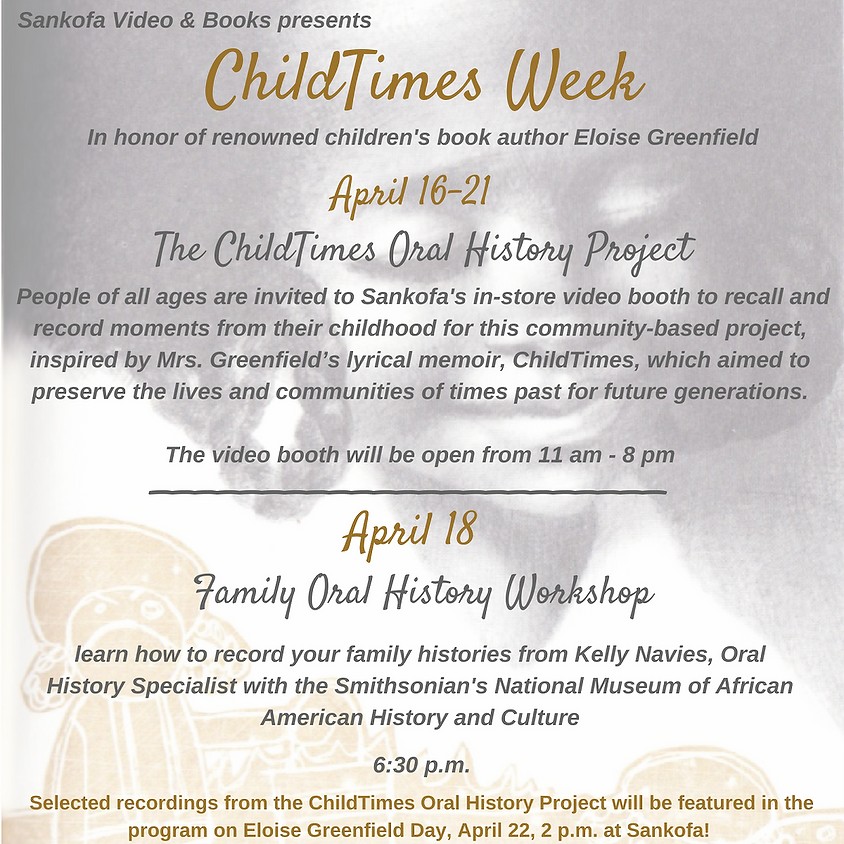 ChildTimes Oral History Project