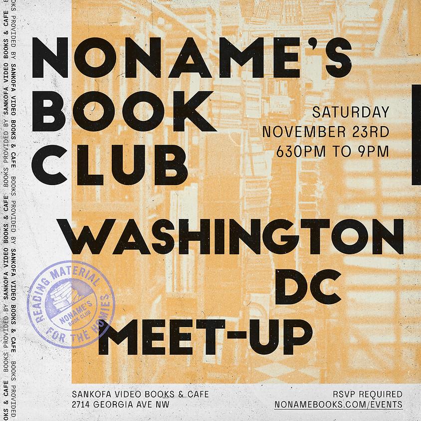 NONAME'S BOOK CLUB WASHINGTON DC MEET-UP