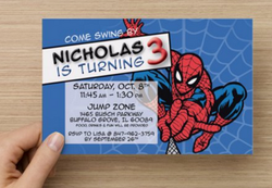 Spiderman Birthday Party invite