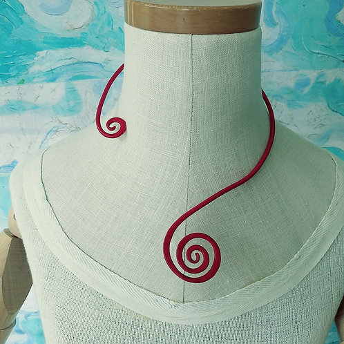 Red Spiral Necklace