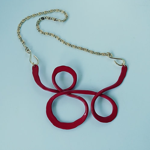 Small Red Freestyle Necklace