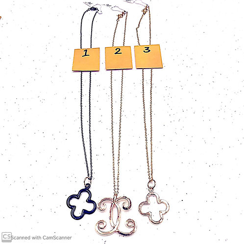 Various Necklaces on Chains