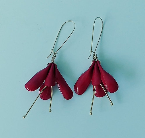 Red Blossom Earrings