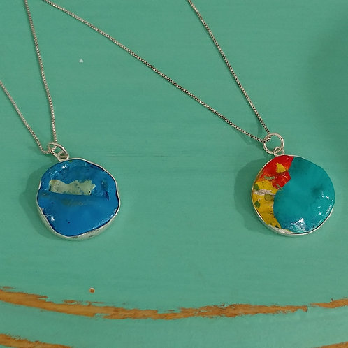 Wet Paint Small Necklace