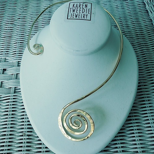 Gold Spiral Necklace