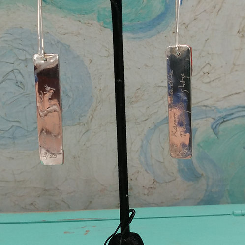 Wet Paint Earrings on Sterling
