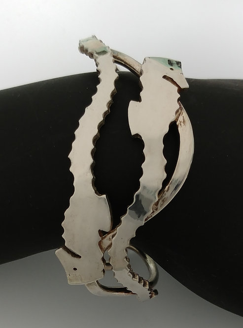 Seahorse Pair Cuff Bracelet