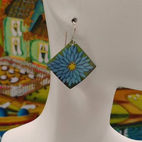 Blue Chicken Feed Earrings
