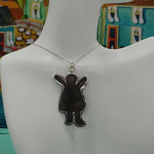 Little Girl Necklace, Sterling
