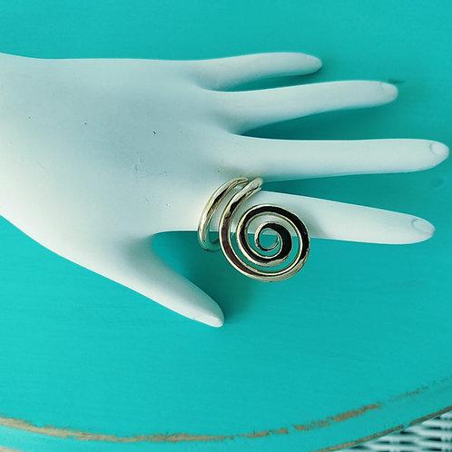 Big Gold Spiral Ring