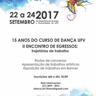 2017 - 15 anos do Curso de Dança UFV