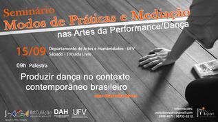 Modos de Práticas e Mediação nas Artes da Performance/Dança