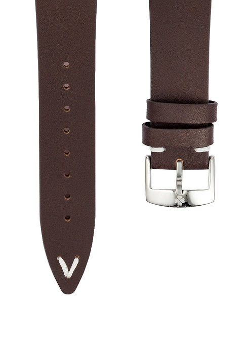 RACER WATCH DARK BROWN LEATHER STRAP (approx USD 26)